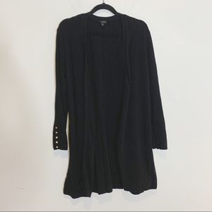 Talbots Long Duster Cardigan Ribbed 19W27